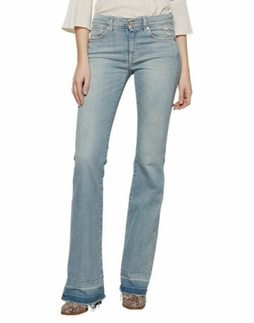 New Ladies 7 For All Mankind Charlize 039 Unrolled 039 Flare