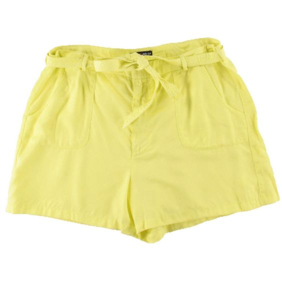 Kiind Of Womens Solid Woven Casual Shorts