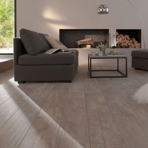 Salon carrelage parquet for Carrelage chambre