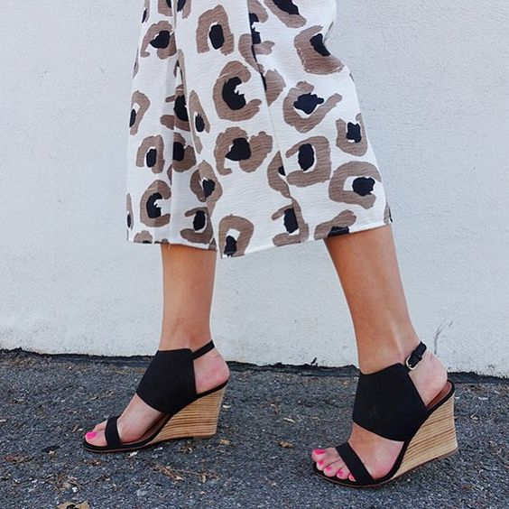 Walk on the wild side. #culottes #shoes #nordstrom