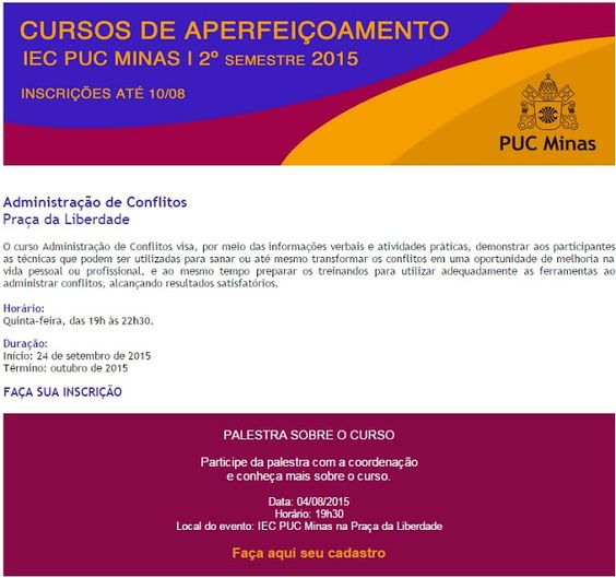 ARTE DO TEXTO: Administração de Conflitos - Faça sua inscrição!