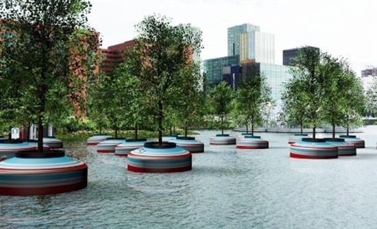 Ασυνήθιστο πλωτό… δάσος στο Ρότερνταμ