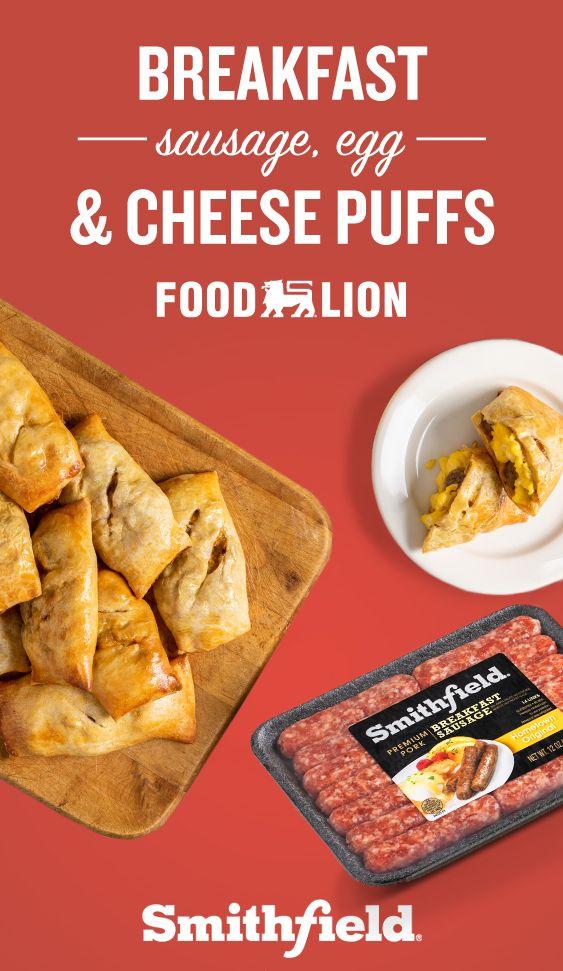 Breakfast Sausage Egg Cheese Puffs Breakfast Recipes Recipes Breakfast