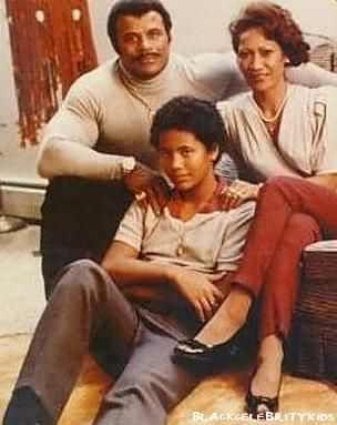 The Rock with his mom (Samoan) and dad (Black Canadian)