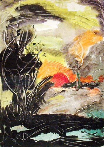 1980 SUNSET, Anatoly Zverev (1931-1986), a member of the non-conformist movement and a founder of Russian Expressionism in the 1960's