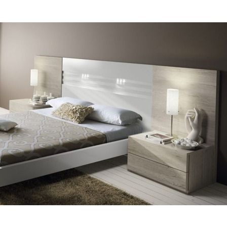 Juego Dormitorio Matrimonial Respaldo Mesas De Luz Laqueado