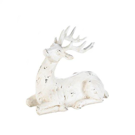 Blitzen Resting Reindeer Figurine 10017726