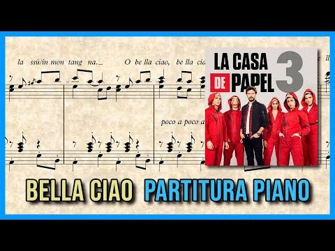 Bella Ciao Full Original La Casa De Papel Partitura Piano Youtube Kinder
