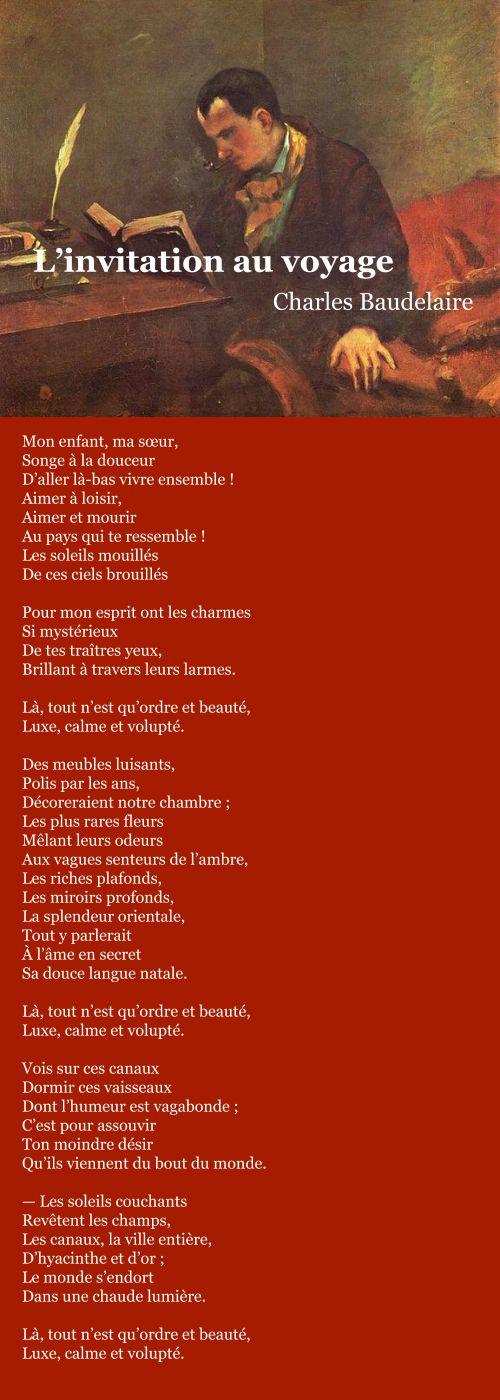 Baudelaire – L'invitation au voyage   À la française …
