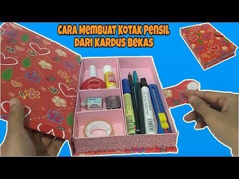 Cara Membuat Kotak Pensil Dari Kardus Bekas Ide Kreatif Dari