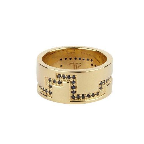 Black Sapphire 'Nevada' Ring // Tessa Packard