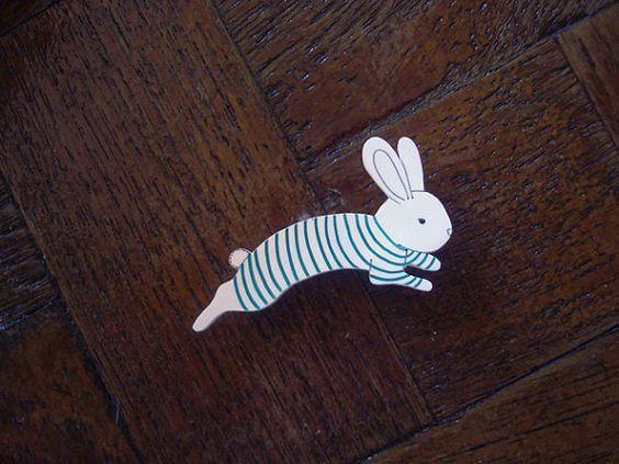 Bunny pale rétractable en plastique Pin broche sur Etsy, 2,92 €