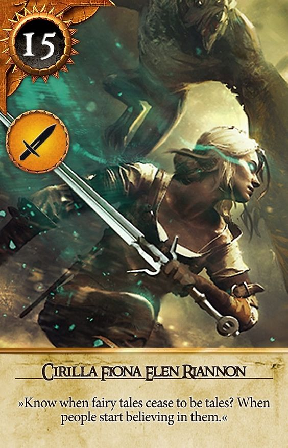 Hunt 39 s the witcher wild hunt and wild hunt on pinterest - Ciri gwent card witcher 3 ...