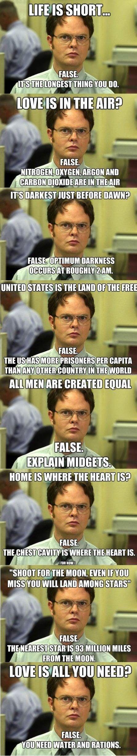 Dwight Schrute's logic