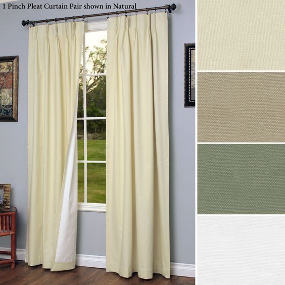 Curtains Ideas blackout pinch pleat curtains : Weathermate Thermalogic(TM) Pinch Pleat Drapes | Icons, Blackout ...