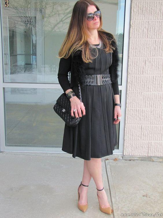 Vestido Preto #lindo3chic#elegante#Black dress#