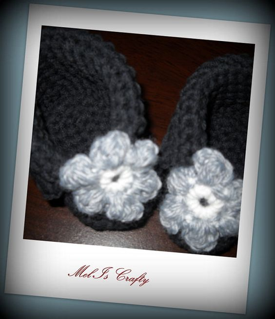 Fold Over Booties by MelIsCrafty on Etsy, $12.96