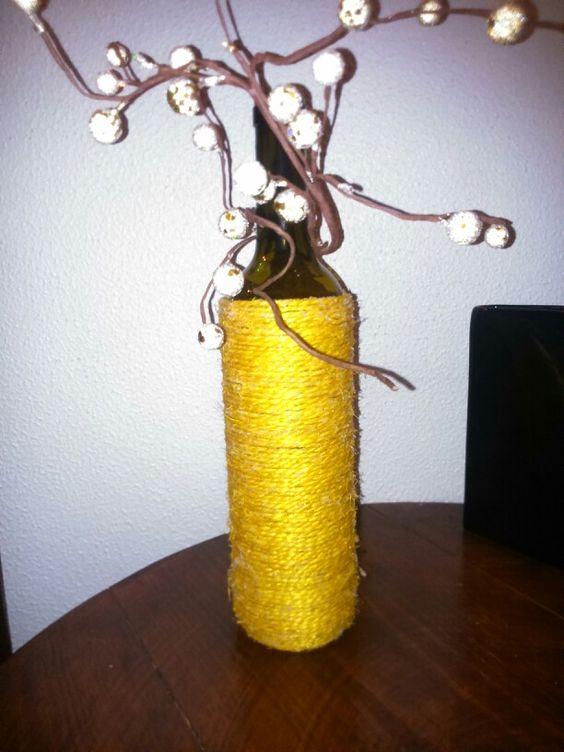 Garrafa de vinho com corda