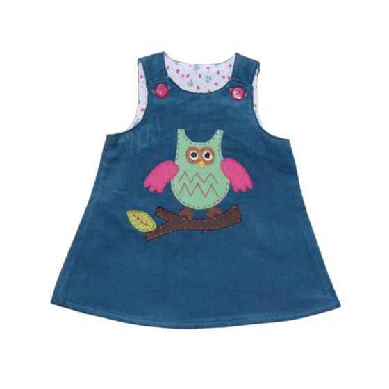 This fabulous dress has been design and made by Isabeau Couture. In a stunning teal babycord, with washable felt applique owl design. Available in ...