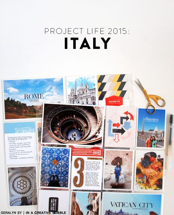 Love this approach to scrapping travel pages! In a Creative Bubble: Project Life: Italy
