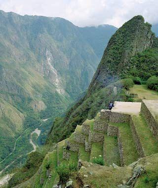 Terraces in Macchu Pichu Peru Source Travel + Leisure