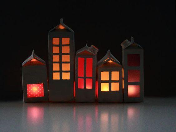 Casas con cartones de leche | ArtCreatiu: