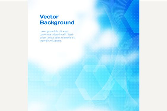 Abstract blue vector background by kanva777 on Creative Market