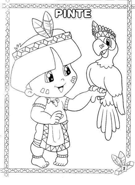 30 Desenhos Dia Do Indio Para Colorir E Imprimir Dia Do Indio