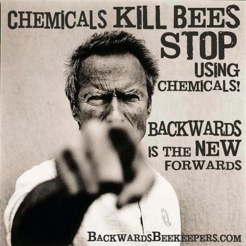 Chemicals kill bees and chemicals kill people.