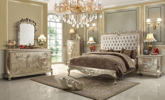 Homey Design HD-13005 Buttermilk Eastern King Bed Set Products