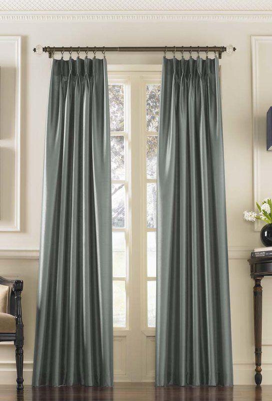 Marquee Solid Room Darkening Pinch Pleat Single Curtain Panel Pinch Pleat Curtains Curtains Curtain Styles