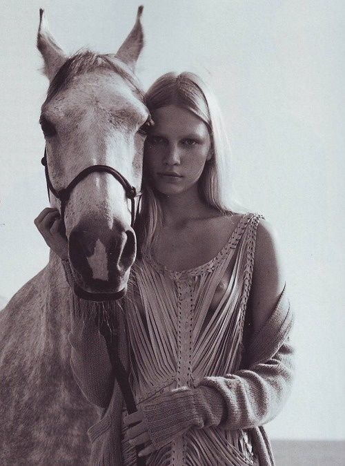 Beautiful and fair Aline Weber photographed by Richard ...
