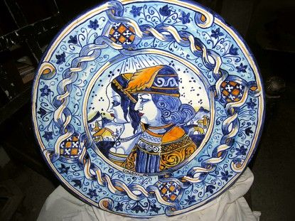 piatti in ceramica antica  piatti di maiolica deruta  Pinterest  Shops and...