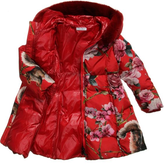 Dolce & Gabbana - Down Padded Animal Print Coat | CHILDRENSALON