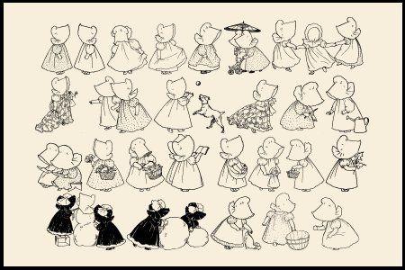 Sunbonnet Sue é o nome pelo qual ficou conhecido o popular desenho da bonequinha cujo rosto está sempre escondido por um gorro ou chapé...