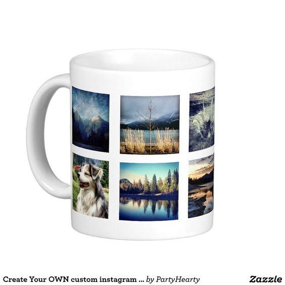 Create Your OWN custom instagram photo Classic White Coffee Mug