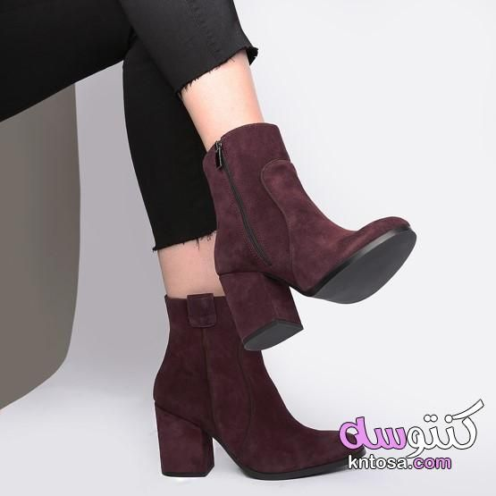 احذيه هاف بوت حريمى هاف بوت حريمي 2020 هاف بوت حريمي بدون كعب هاف بوت كوتشى Ankle Boot Shoes Boots