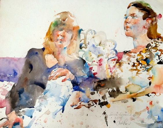 Watercolors on pinterest for Watercolor painting classes near me