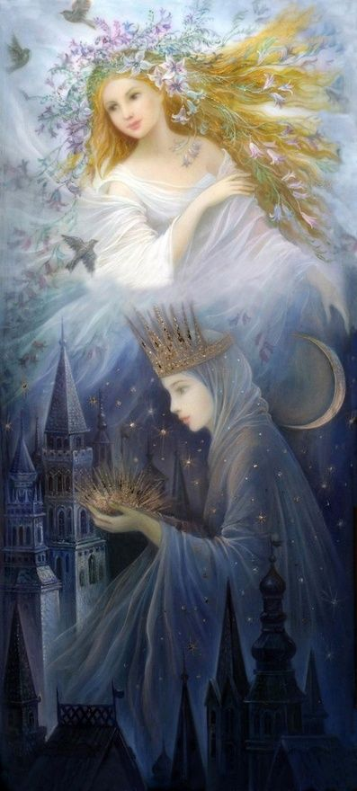 """""""Morning Into Night""""Artist P.J.Lunch - An Old Fairy Tale From England"""