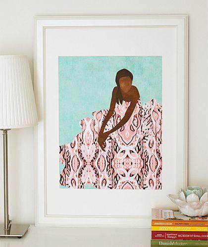 """The Dress"" art print by COZAMIA  #art, #decor, #cozamia"
