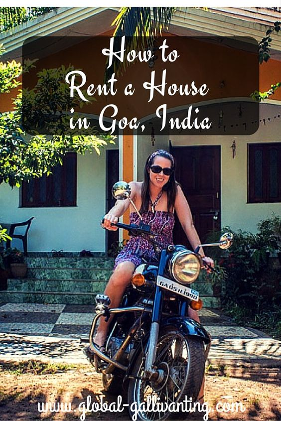 How to rent a house in Goa, India