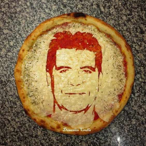Pizza Art, Simon Cowell