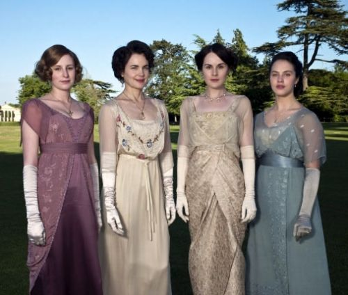 """""""Long Dresses for a Look That's Casual or Elegant  The ladies of Downton Abbey are usually dressed to impress. But it's possible to find empire-waist dresses and long dresses in a variety of styles that have a bit of pre-World War I British flair..."""""""