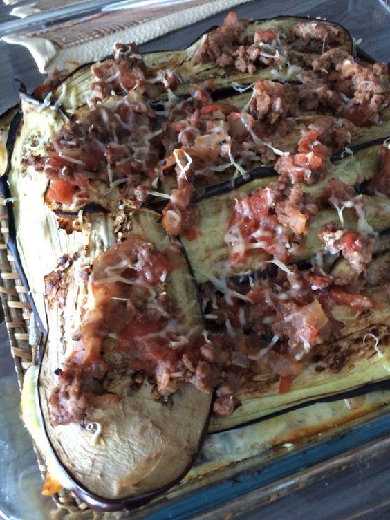 Lasanha de Berinjela com Carne Moída