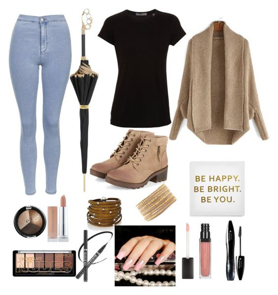 """""""Autumn """" by dstjepania18 ❤ liked on Polyvore featuring Topshop, Vince, Sif Jakobs Jewellery, Chan Luu, Lancôme, Ankit and Pasotti Ombrelli"""