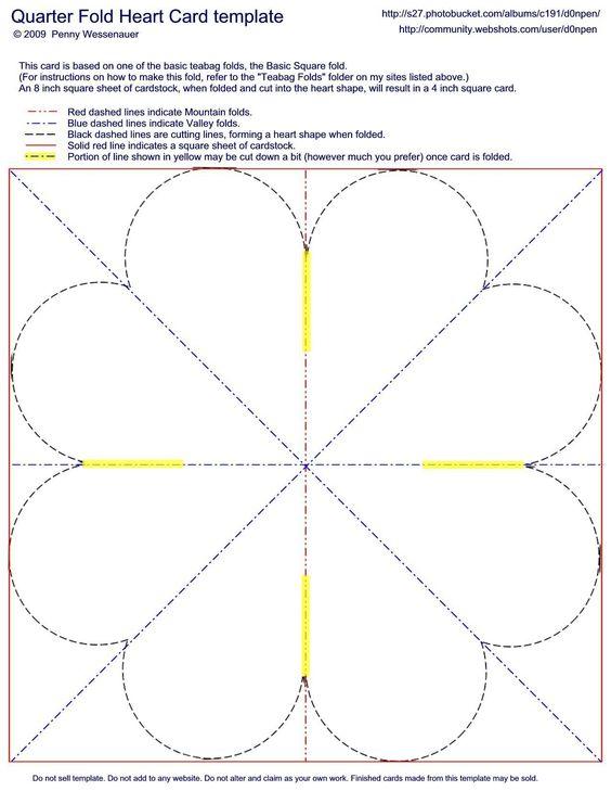 Card Templates :: Quarter Fold Heart Card image by d0npen ...