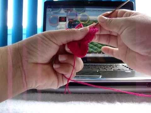 Flor croche amor perfeito- Video 2