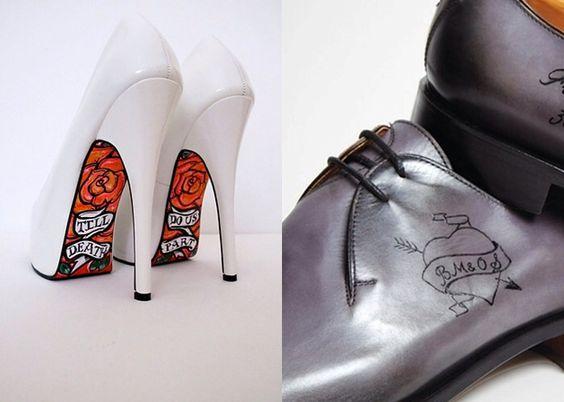 Sapato da noiva.
