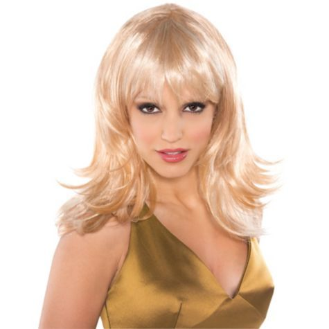 Feathered And Flirty Blonde Wig 110