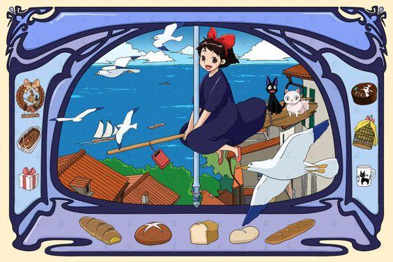 Studio Ghibli Kiki Delivery Service von PenelopeLovePrints auf Etsy